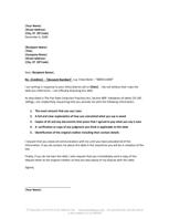 Sample Debt Validation Letter •